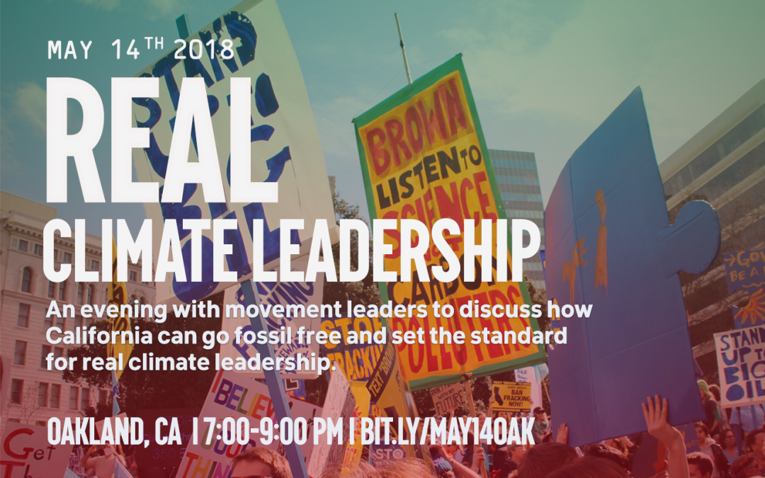Bill McKibben & Real Climate Leadership Panel