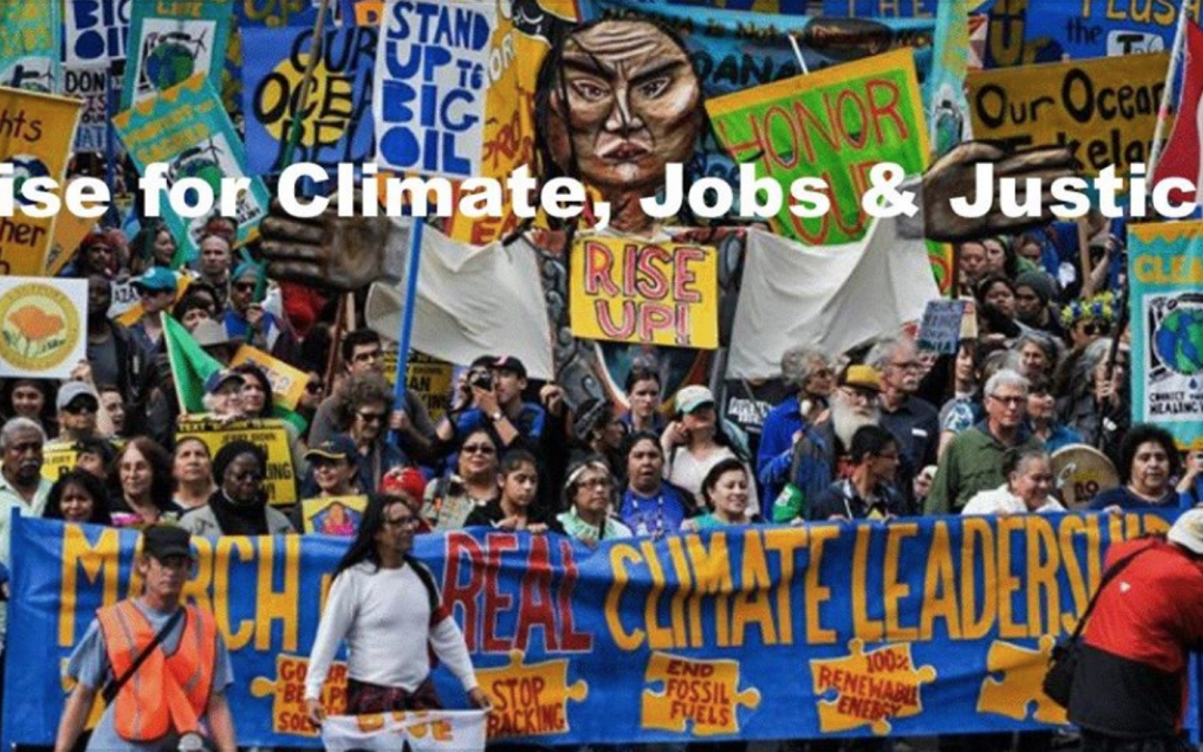 Rise for Climate Jobs and Justice Mass Meeting